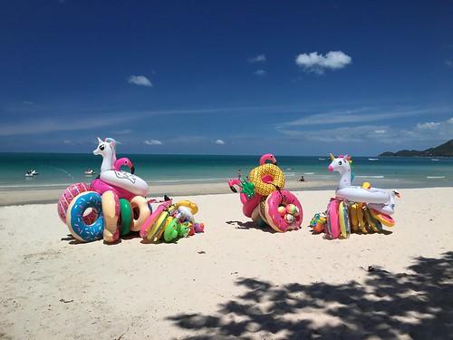 今日のサムイ島-チャウエンビーチ 7月3日-ニッコリです