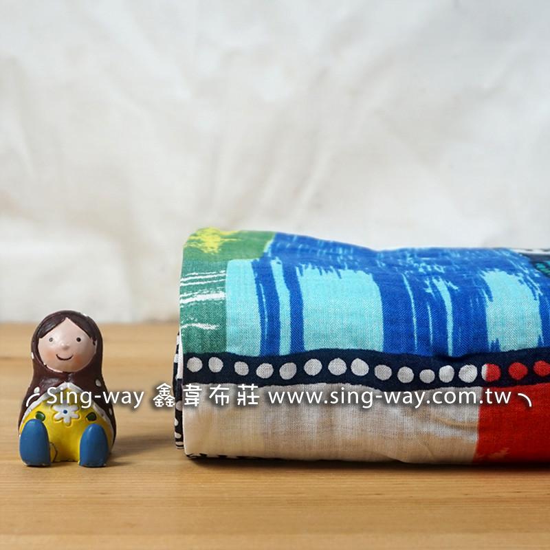畢卡索畫 藝術風 格子 繪畫風 長裙 藝術服裝布料 CH790523