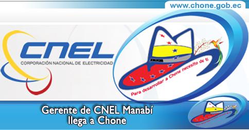 Gerente de CNEL Manabí llega a Chone