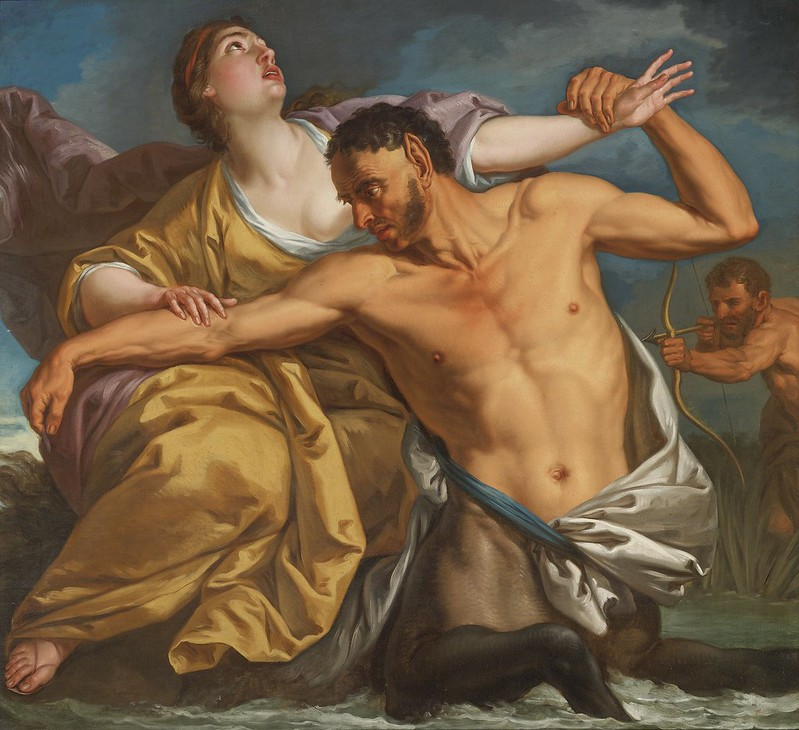 Italian School 18th Century - The Slaying of Nessus by Hercules