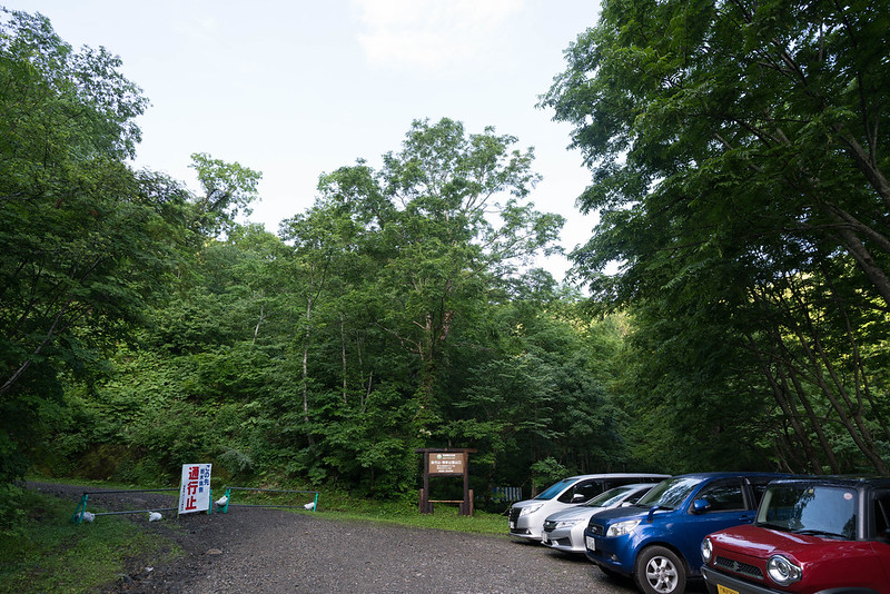 田代山登山口の駐車場