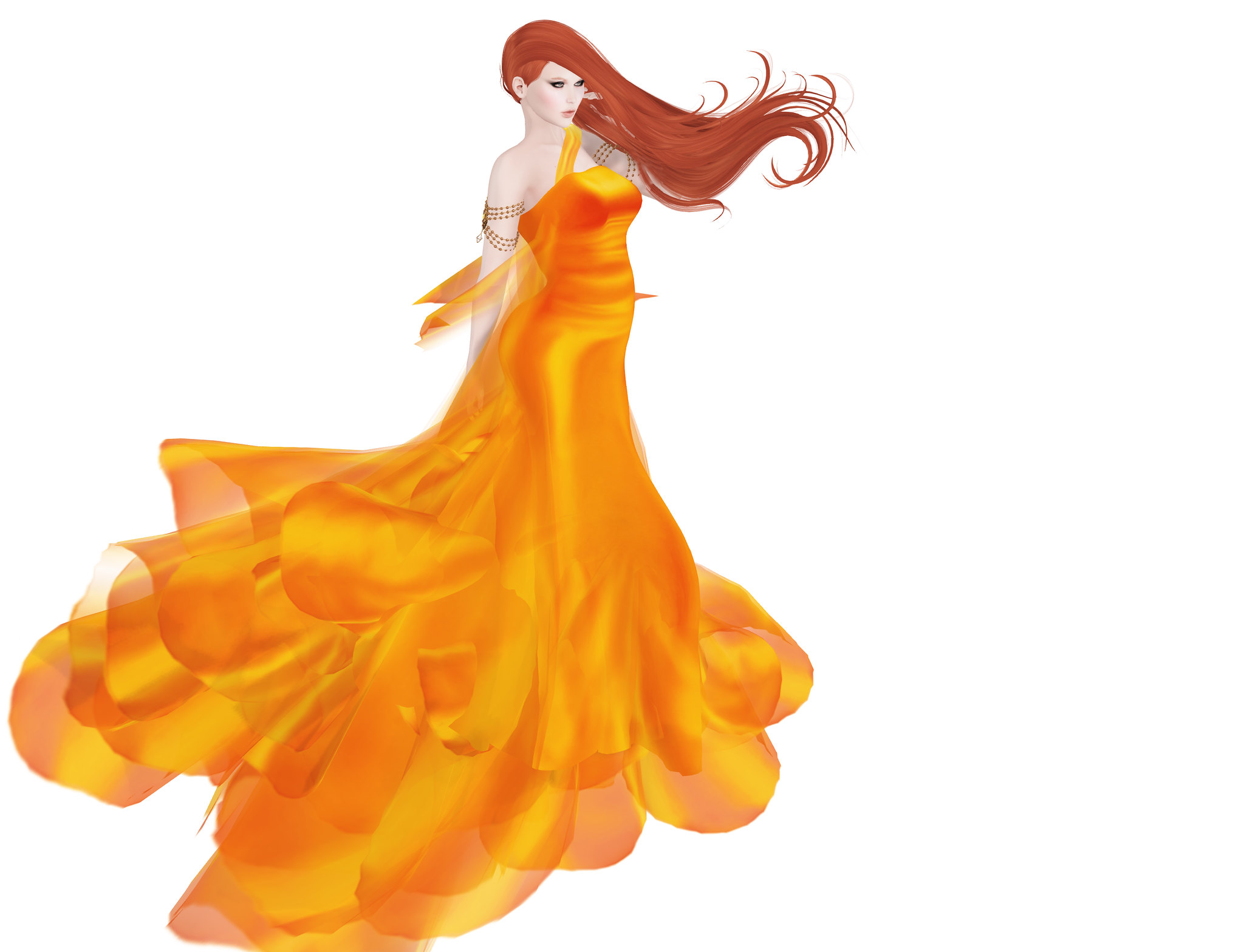 Azul, Vivienne gown mandarin
