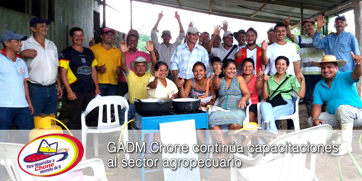 GADM Chone continúa capacitaciones al sector agropecuario