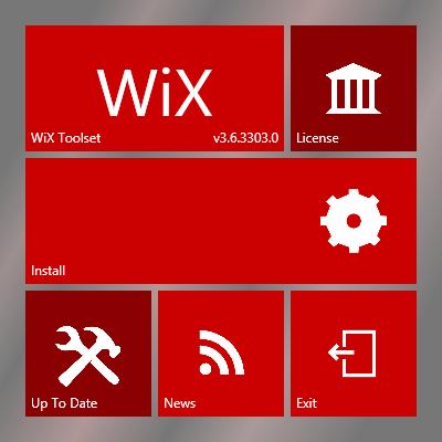 Tampilan Installer WiX Toolset