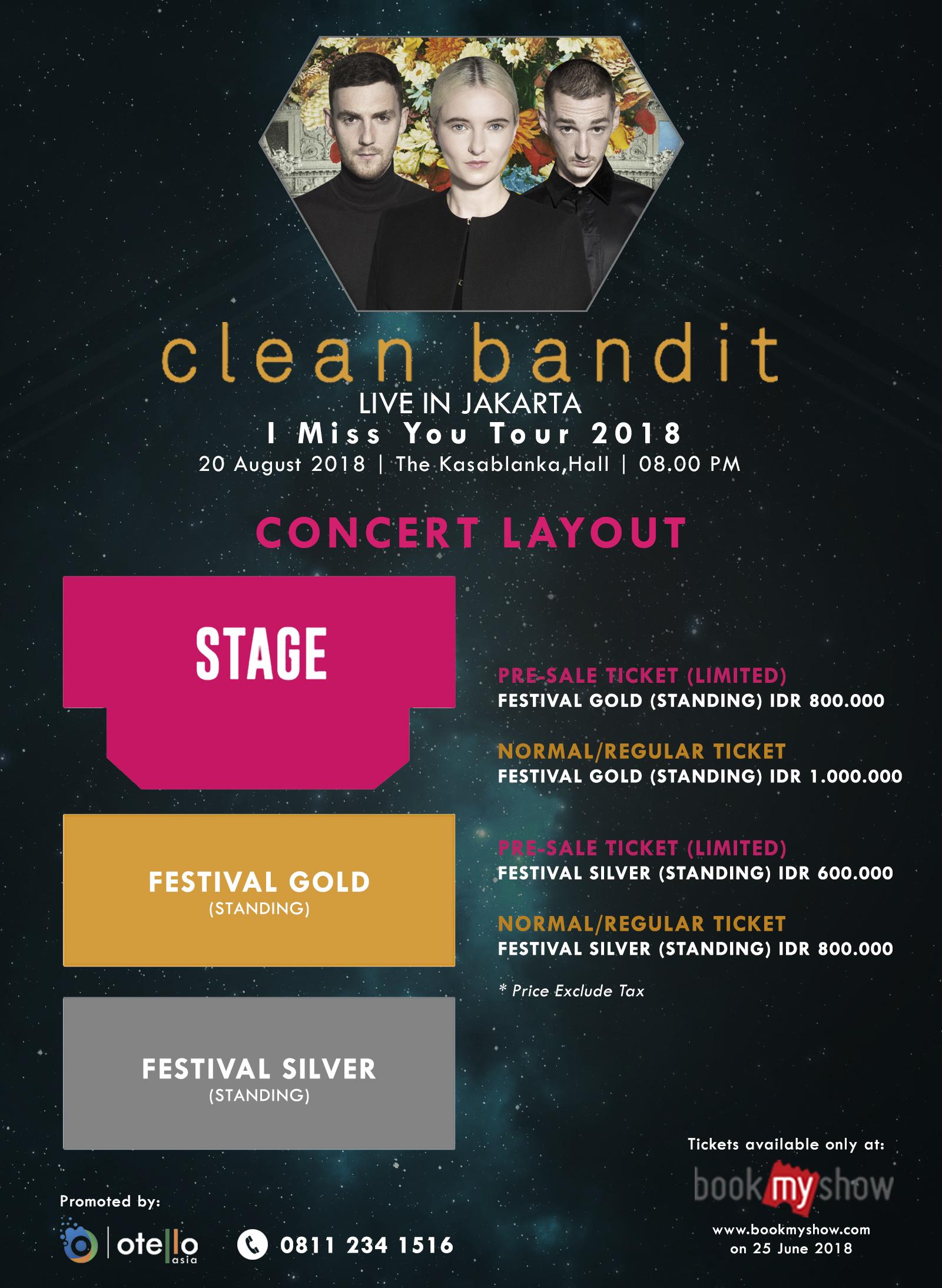 Clean Bandit 2018 - CONCERT    LAYOUT