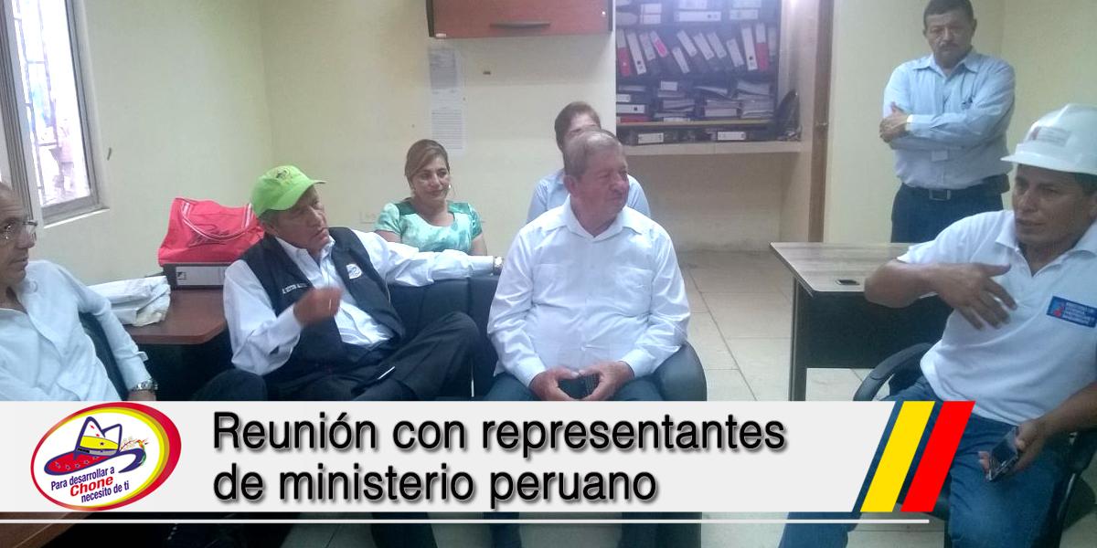 Reunión con representantes de ministerio peruano