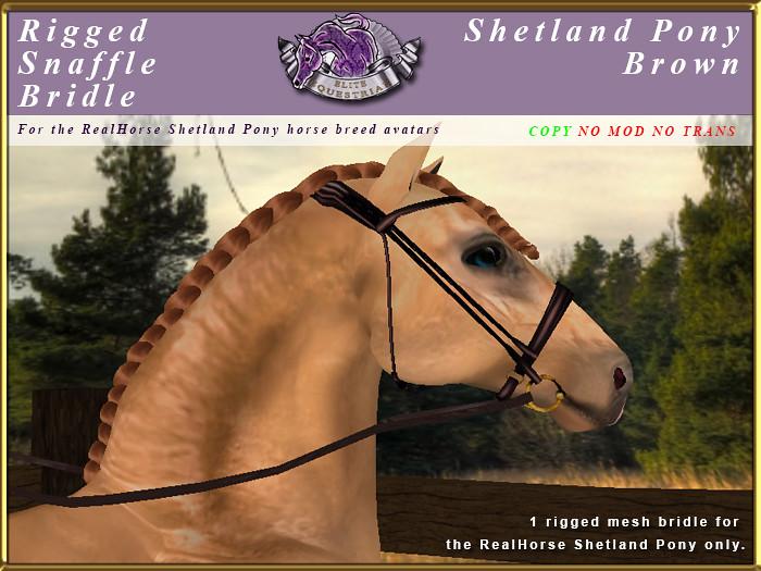 e-rh-Shetland-SnaffleBridle-Brown - TeleportHub.com Live!