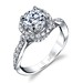 Engagement Rings : Halo diamond ring by Parade Design