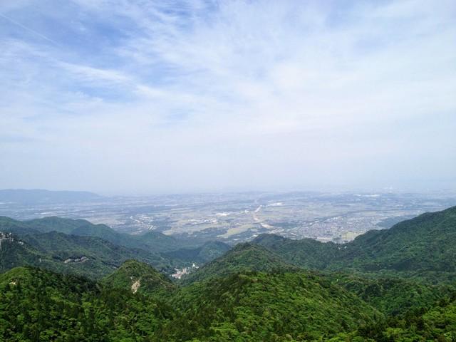 鎌ヶ岳 武平峠ルート 岩場からの眺望