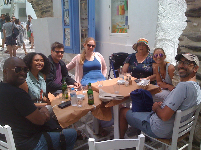 Paros 14 group lunch, Apple iPhone 3G