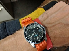 Berenger Stingray on RAF-style strap. Now the Dakota Watch Company.