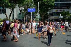 Главная торговая улица Орчард-роад и её окрестности. Сингапур