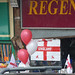 England flags near The Maypole - It's Coming Home!