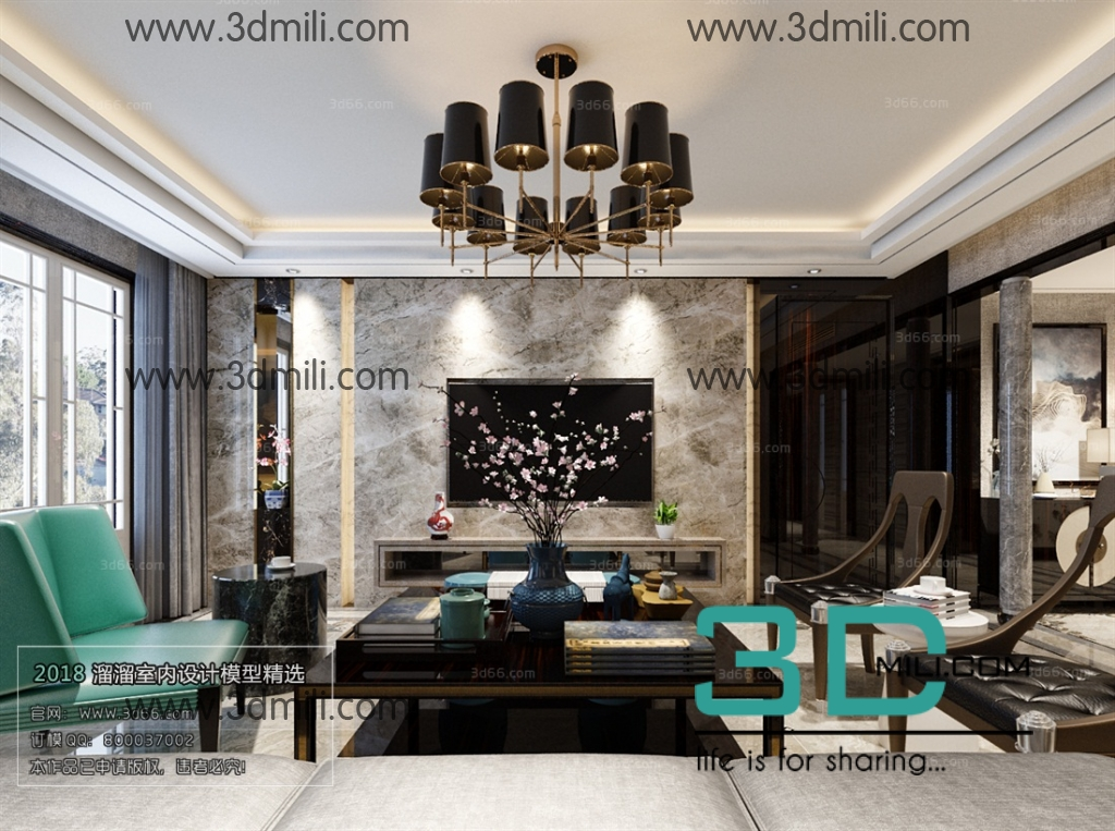 30. Mix Style Living Room 3Ds Max file free download - 3D Mili ...