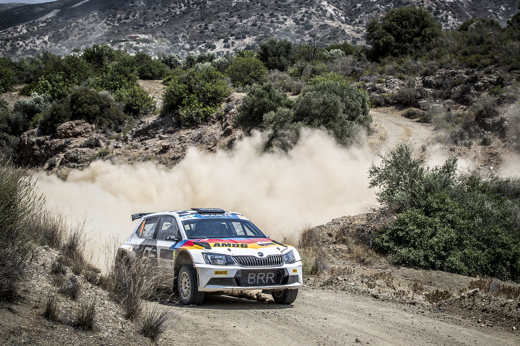 09 ALBERT VON THURN UND TAXIS (DEU), DEGANDT Bjorn (BEL), BRR-BAUMSCHLAGER RALLYE & RACING TEAM, SKODA FA BIA R5, action during the 2018 European Rally Championship ERC Cyprus Rally,  from june 15 to 17  at Larnaca, Cyprus - Photo Gregory Lenormand / DPPI