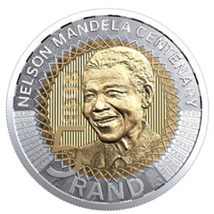 South Africa Mandela coin obvese