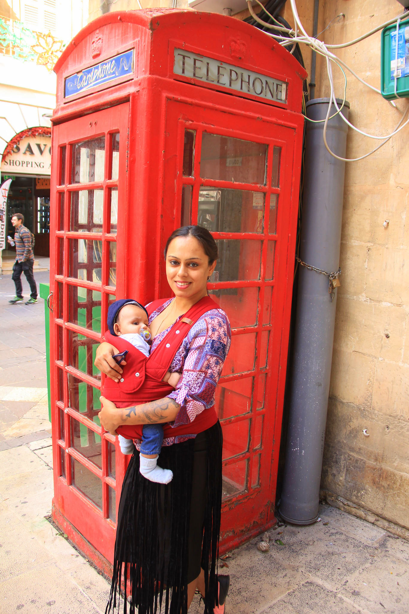 The red telephone booths of Valletta are very famous