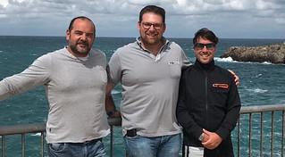 Il vicepresidente Giuseppe Abbatepaolo, il presidente Vito Pietro L'Abbate e il tesoriere Nicolas Contento