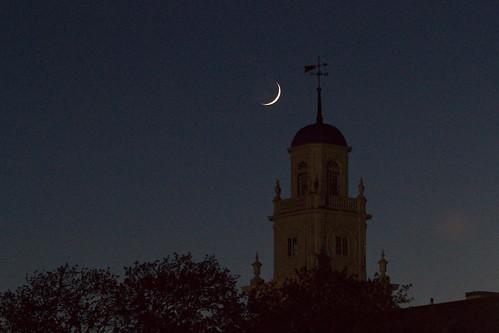 Sliver Moon over Wareham