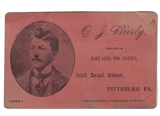 BIERLY, O. J. Business Card