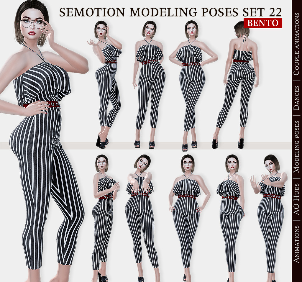 SEmotion Female Bento Modeling poses Set 22 – 10 static poses