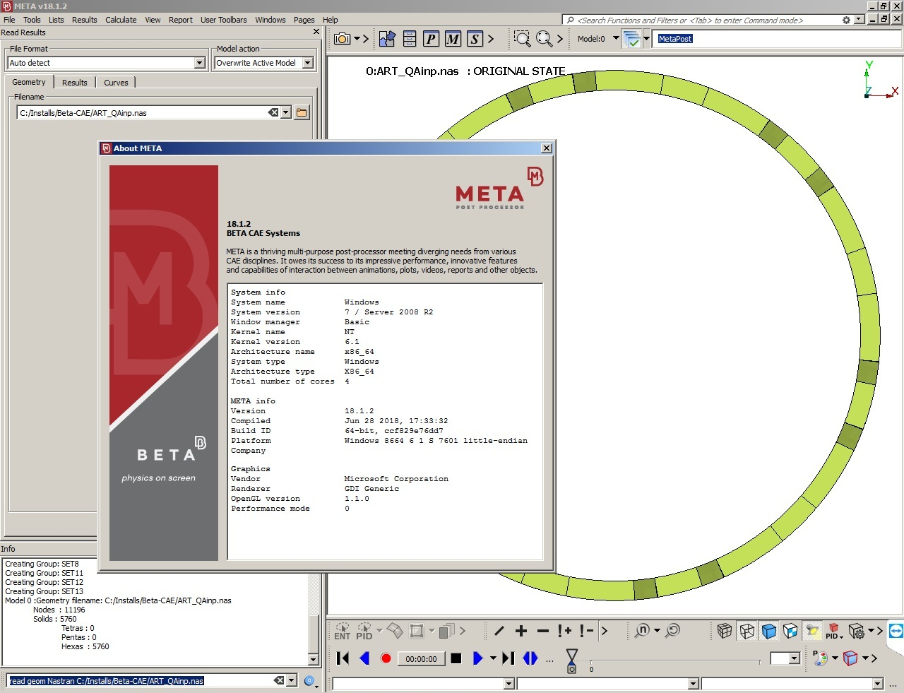 Working with BETA-CAE Systems Meta - v18.1.2 full license