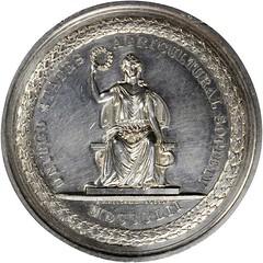 Bullitt US Agricultural Society Award silver medal obverse