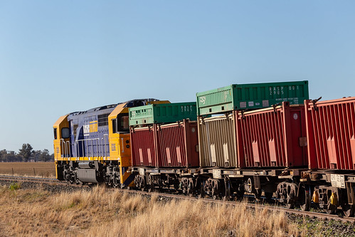 Trailing shot of 8206 and Ore Containers
