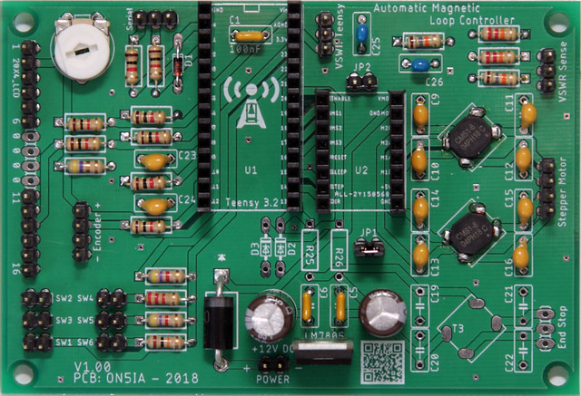 Populated PCB for Automatic Magnetic Loop Tuner