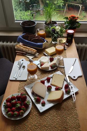 Frühstück nach Marktbesuch am Samstagmorgen