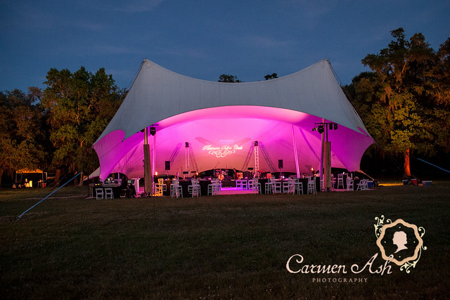 Boone Hall Music Event with PDA lighting and audio