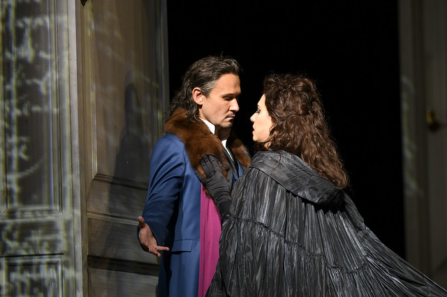 Mariusz Kwiecień as Don Giovanni and Hrachuhi Bassenz as Donna Elvira in Don Giovanni, The Royal Opera © 2018 ROH. Photograph by Bill Cooper