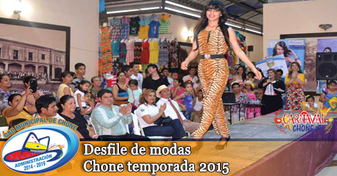 Desfile de modas Chone temporada 2015