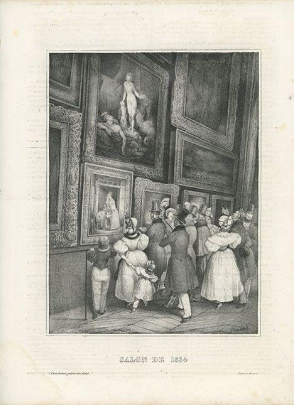 Jules-Joseph-GuillaumeBourdetLeSalonDe1834LithographFromLeCharivari(March18.1834)