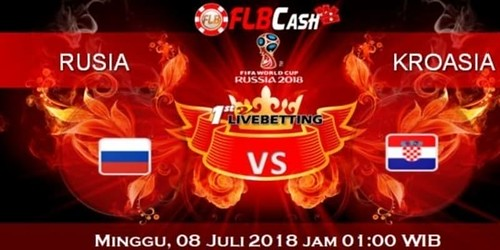 Prediksi Bola Piala Dunia – Rusia vs Kroasia, hari Minggu, 8 Juli 2018