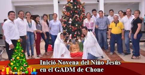 Inició Novena del Niño Jesús en el GADM de Chone