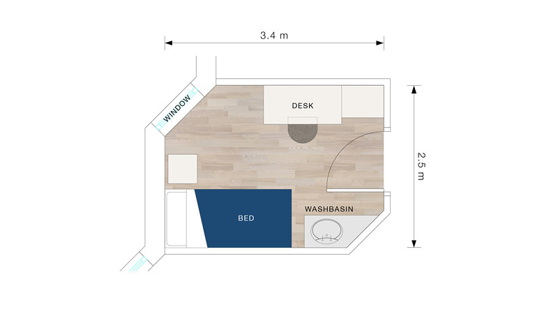 Brendon Court bedroom floorplan