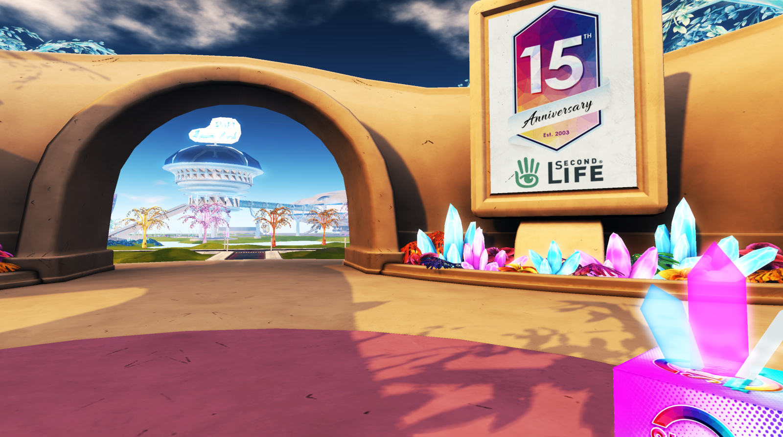 SL15B: The Welcome Area, arrival point for exploring the event regions and start partying
