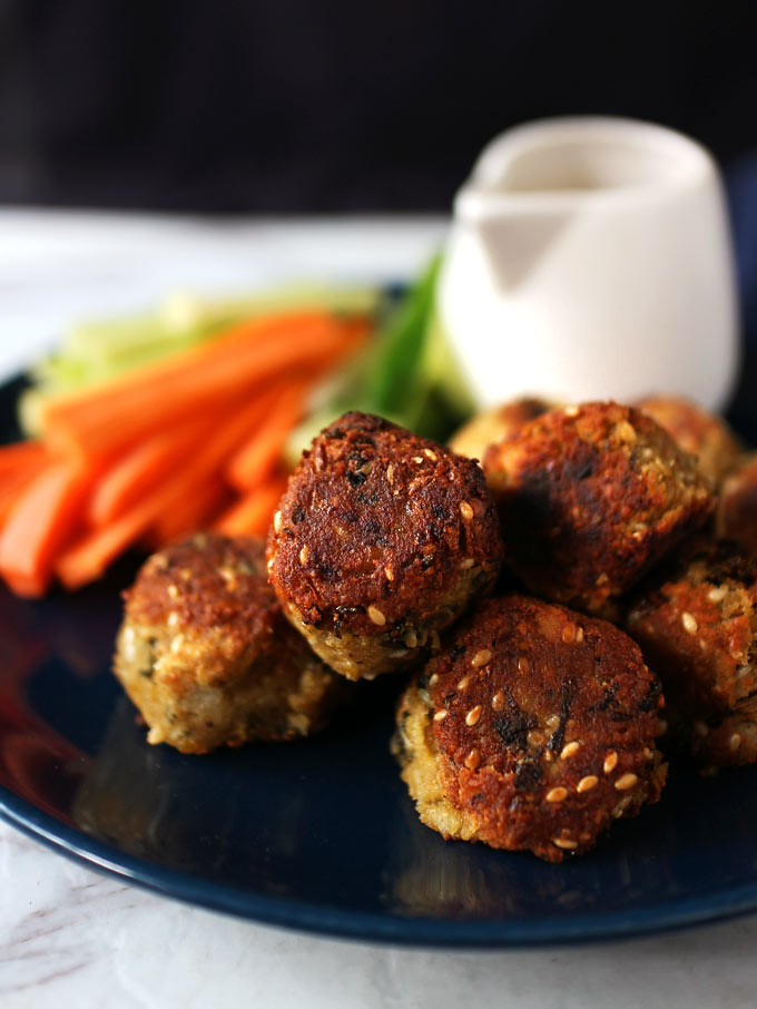 香煎純素鷹嘴豆球 vegan-pan-fried-falafel (4)