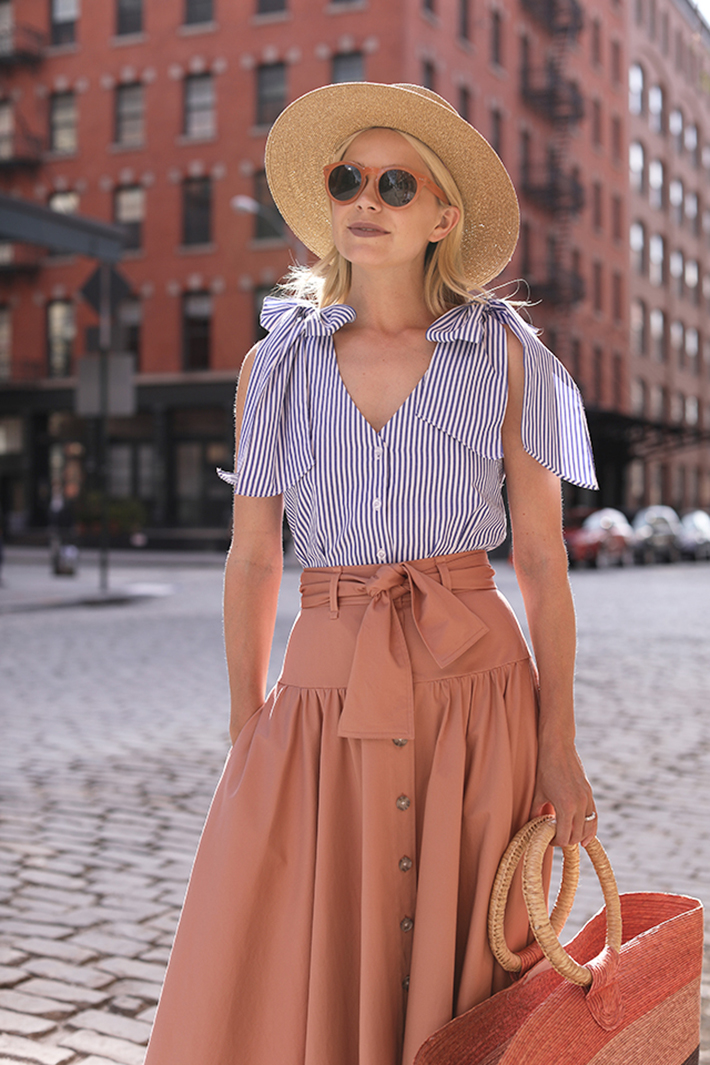 straw hat outfits for this summer trend 2018 style fashion tendencias8