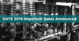 GATE dates 2019