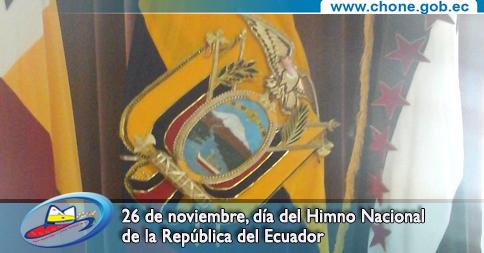 26 de noviembre, día del Himno Nacional de la República del Ecuador