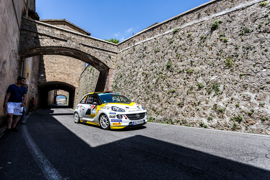 37 SESK Martin ( lva), FRANCIS Renars (lva), Opel adam,  action during the 2018 European Rally Championship ERC Rally di Roma Capitale,  from july 20 to 22 , at Fiuggi, Italia - Photo Thomas Fenetre / DPPI