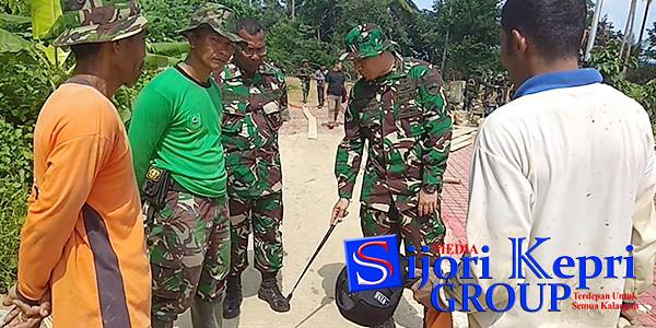 Dandim 0318/Natuna, Yusuf Rizal, memberikan pengarahan kepada anggota Kodim 0318/Natuna