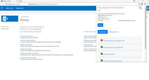 Page diagnostics extension test