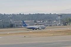 Xiamen Airlines Boeing 737-800 B-1287 test flight Boeing Field Airport