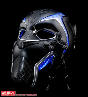 Become King of Wakanda with the Black Panther Electronic Helmet from Hasbro's Marvel Legends!