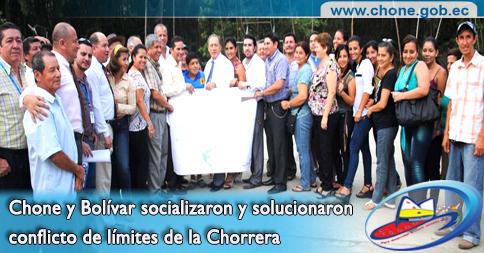 Chone y Bolívar socializaron y solucionaron conflicto de límites de la Chorrera