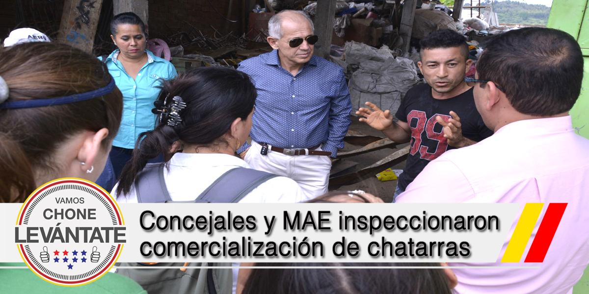 Concejales y MAE inspeccionaron comercialización de chatarras