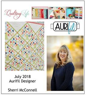 2018 Aurifil DOM July Sherri McConnell collage